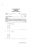 P1_Maths_2018_Catholic_High_test2_Papers