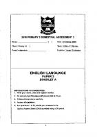 P3_English_SA2_2018_Tao_Nan_Exam_Papers