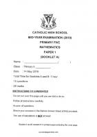 P5_Maths_2019_SA1_Catholic_High